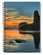 Fire At Low Tide Spiral Notebook