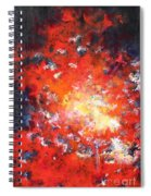 Fire Blazing In The Sky Spiral Notebook