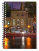 Fire Boat On Cuyahoga River Spiral Notebook