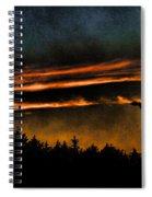 Fire Clouds Spiral Notebook
