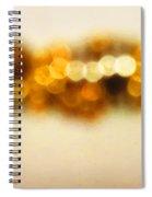 Fire Dance - Warm Sparkling Abstract Art Spiral Notebook