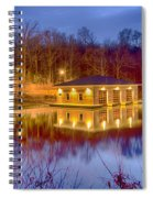 Fire Department Rescue Building On Water Spiral Notebook