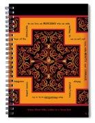 Fire Dragon Celtic Cross Spiral Notebook