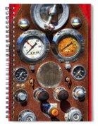 Fire Engine Gauges Spiral Notebook