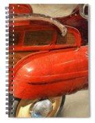 Fire Engine Pedal Car Spiral Notebook