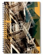 Fire Escapes In Blue And Gold Spiral Notebook