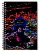 Fire Hydrant Bathed In Neon Spiral Notebook