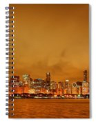 Fire In A Chicago Night Sky Spiral Notebook