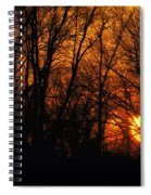 Fire In The Woods Sunset Spiral Notebook