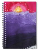Fire On The Mountain Original Painting Spiral Notebook