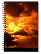Fire Over The Ocean Spiral Notebook