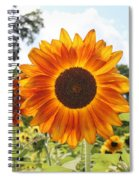Fire Petals Spiral Notebook