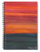 Fire Sky Over The Sea Spiral Notebook