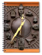 Fire Station Clock Spiral Notebook