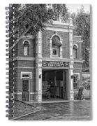 Fire Station Main Street Disneyland Bw Spiral Notebook