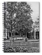 Fire Station Main Street In Black And White Walt Disney World Spiral Notebook