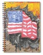 Fire Storm Flag Spiral Notebook