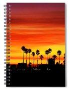 Fire Sunset In Long Beach Spiral Notebook