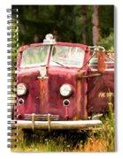 Fire Truck Digital Painted Spiral Notebook