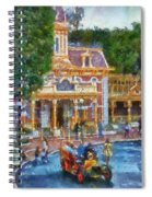 Fire Truck Main Street Disneyland Photo Art 02 Spiral Notebook