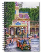 Fire Truck Main Street Disneyland Spiral Notebook