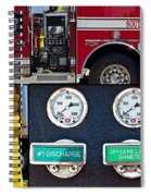 Fire Truck With Isolated Views Spiral Notebook