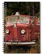 Fire Truck With Texture Spiral Notebook