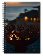 Firebowl At Night Spiral Notebook