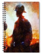Firefighters At The Scene Spiral Notebook