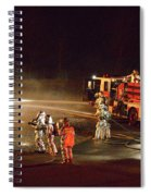 Firefighters At Work Spiral Notebook