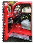 Fireman - Fire Truck With Fireman's Uniform Spiral Notebook
