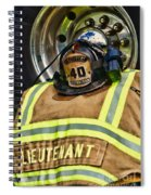 Fireman Turnout Gear Lieutenant Spiral Notebook