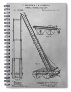 Fireman's Hydraulic Lift Patent Drawing Spiral Notebook