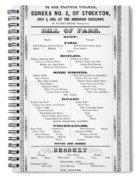 Firemen Dinner Menu - San Francisco - 1856 Spiral Notebook