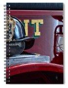 Firemen - Fire Helmet Lieutenant Spiral Notebook
