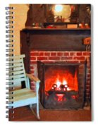The Family Hearth - Fireplace Old Rocking Chair Spiral Notebook