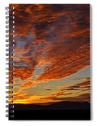 Firery Desert Skies  Spiral Notebook