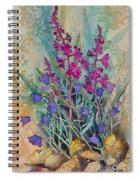 Fireweed And Bluebells Spiral Notebook
