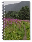 Fireweed Path At Fish Creek Spiral Notebook