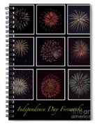 Fireworks - Black Background Spiral Notebook
