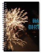 Fireworks Birthday Spiral Notebook