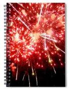 Fireworks Display At Niagara Falls Spiral Notebook