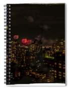Fireworks From My Window 1 - Manhattan Spiral Notebook