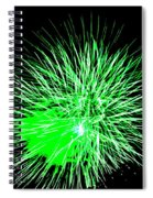 Fireworks In Green Spiral Notebook