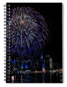 Fireworks In New York City Spiral Notebook