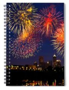 Fireworks In The City Spiral Notebook
