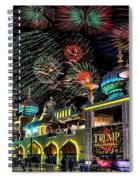 Fireworks Over Atlantic City Spiral Notebook
