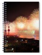 Fireworks Over Kuwait City Spiral Notebook