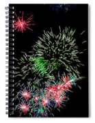 Fireworks Over The Bay Spiral Notebook