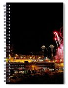 Fireworks Over The Kansas City Plaza Lights Spiral Notebook